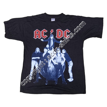 Shirt Europe AC/DC 1996 recto