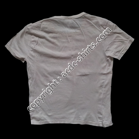 Shirt Europe AC/DC 2009 verso