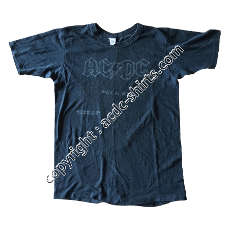 Shirt USA AC/DC 1980 recto