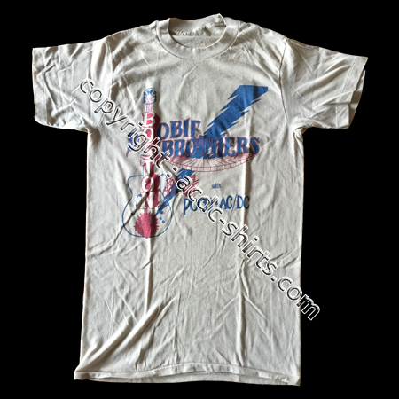 Shirt Europe AC/DC 1978 recto