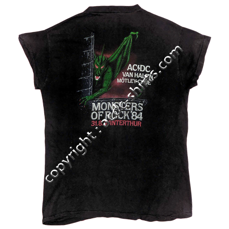 Shirt Europe AC/DC 1983-84 verso