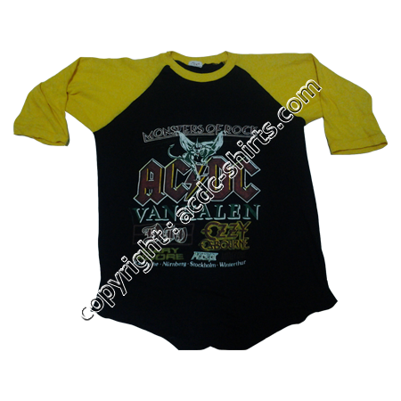 Shirt Europe AC/DC 1983-84 recto