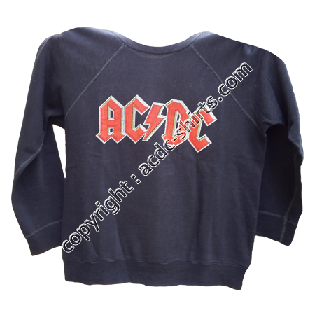 Sweat France AC/DC 1980 recto