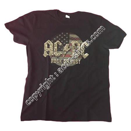 Shirt USA AC/DC 2015-2016 recto