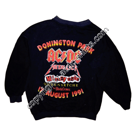 Shirt Europe AC/DC 1991 verso